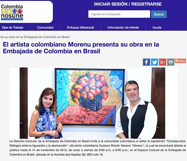 Morenu no portal Colômbia nos une