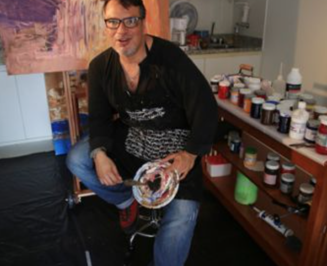 David Benadiela Morenu at his studio in Brasília